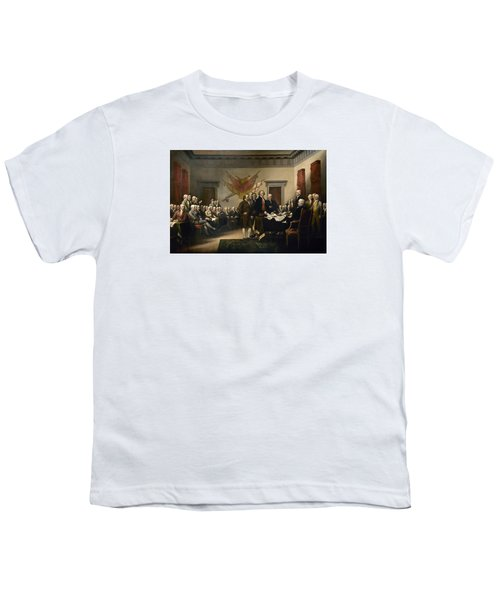 Signing The Declaration Of Independence Youth T-Shirt by War Is Hell Store