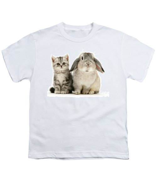 Silver Tabby And Rabby Youth T-Shirt