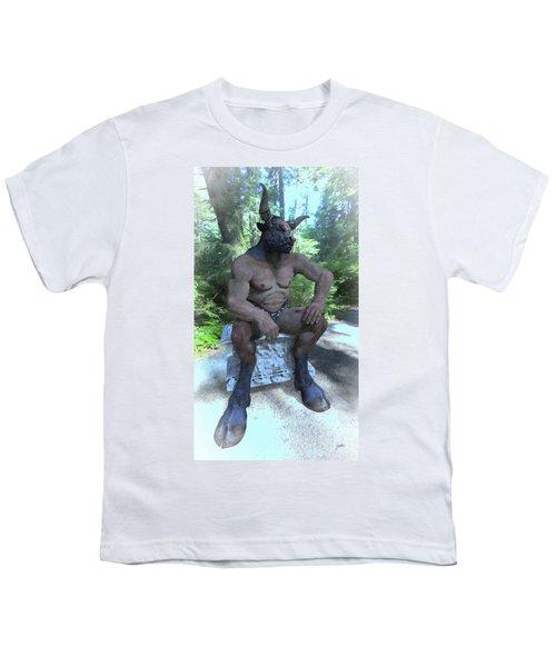 Sitting Bull Youth T-Shirt by Joaquin Abella
