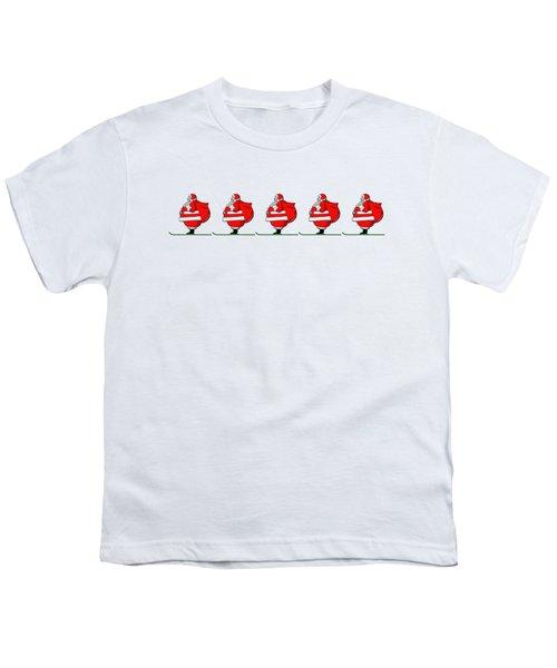 Skiing Santa Claus Mug Youth T-Shirt by Edward Fielding
