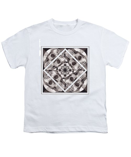 Skull Mandala Series Number Two Youth T-Shirt by Deadcharming Art