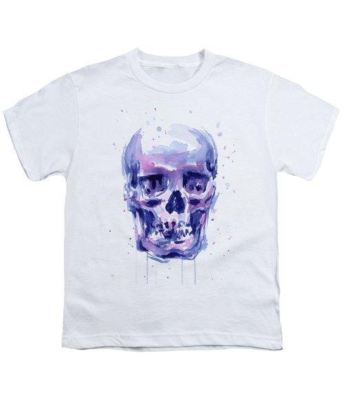 Skull Watercolor Youth T-Shirt
