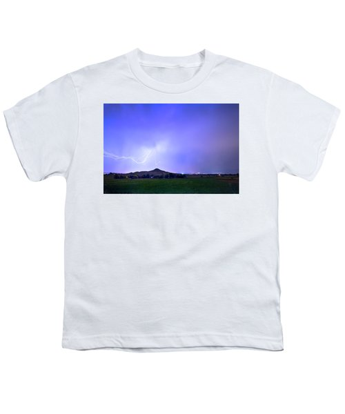 Youth T-Shirt featuring the photograph Sky Monster Above Haystack Mountain by James BO Insogna
