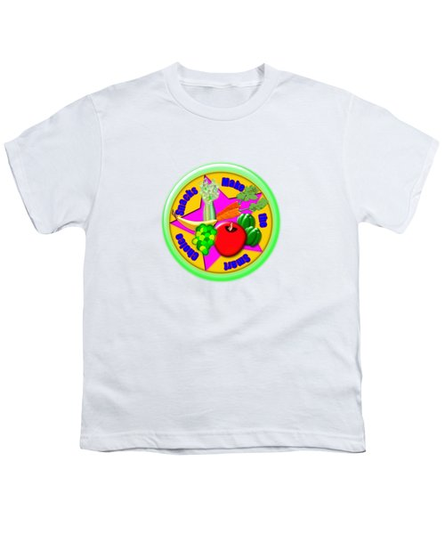 Smart Snacks Youth T-Shirt by Linda Lindall