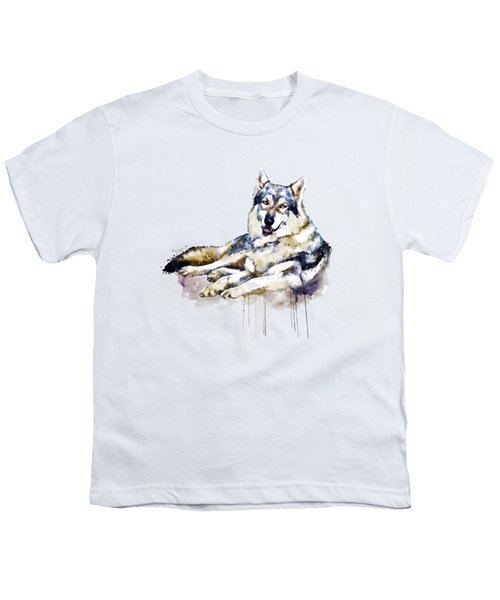 Smiling Wolf Youth T-Shirt by Marian Voicu