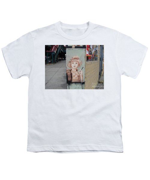 Smoking Girl  Youth T-Shirt by Cole Thompson