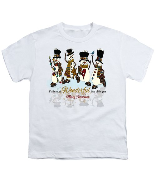 Snow Play Youth T-Shirt by Tami Dalton