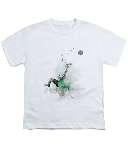 Soccer Player Youth T-Shirt by Marlene Watson