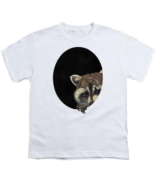 Socially Anxious Raccoon Youth T-Shirt