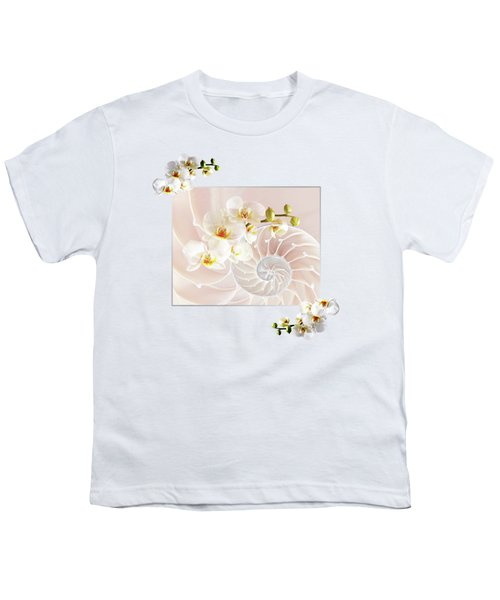 Soft Pink Fusion Youth T-Shirt by Gill Billington