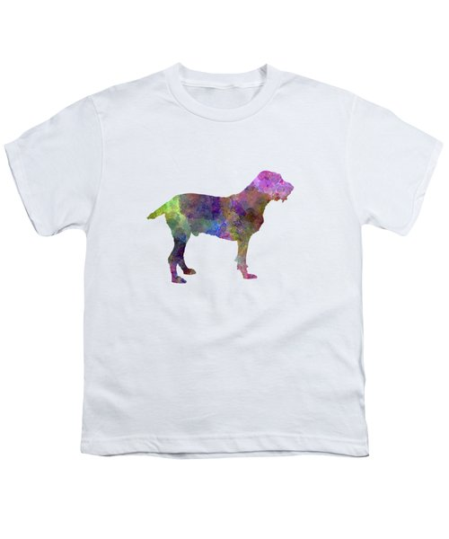 Spinone In Watercolor Youth T-Shirt by Pablo Romero