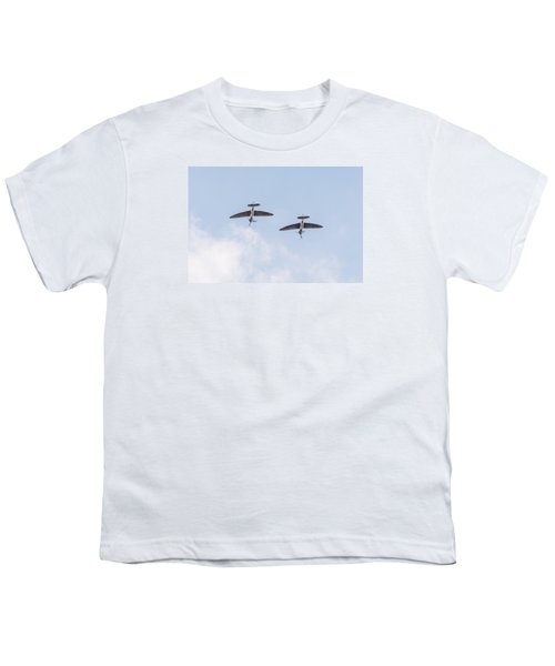 Spitfires Loop Youth T-Shirt by Gary Eason