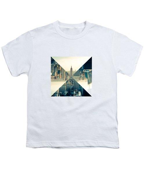 Split Skyline Ny Youth T-Shirt