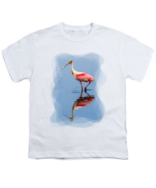 Spoonbill 3 Youth T-Shirt by John M Bailey