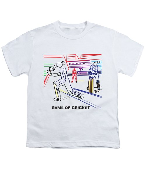 Sports Fan Cricket Played India England Pakistan Srilanka Southafrica Youth T-Shirt by Navin Joshi
