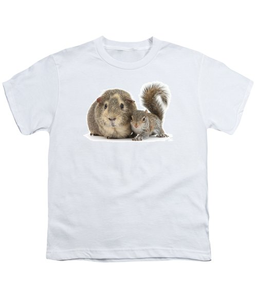 Squirrel And Guinea Youth T-Shirt