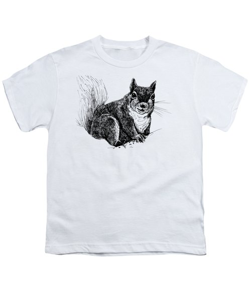 Squirrel Drawing Youth T-Shirt