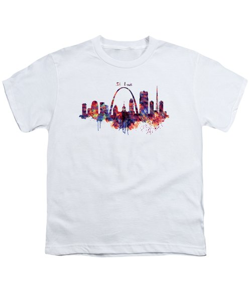 St Louis Skyline Youth T-Shirt by Marian Voicu