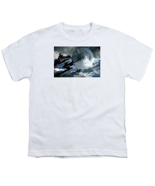 Star Trek Into Darkness, Original Mixed Media Youth T-Shirt by Thomas Pollart