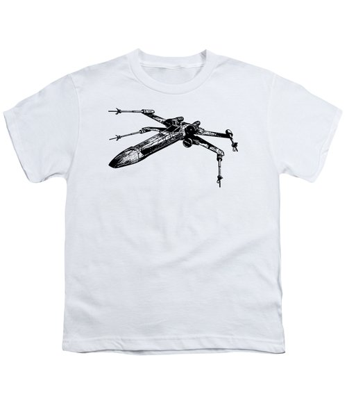 Star Wars T-65 X-wing Starfighter Tee Youth T-Shirt by Edward Fielding