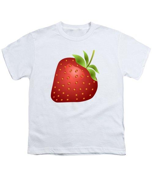 Strawberry Fruit Youth T-Shirt by Miroslav Nemecek