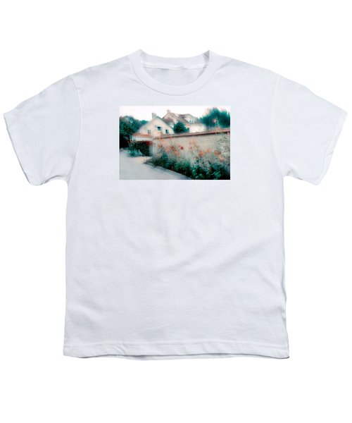 Street In Giverny, France Youth T-Shirt by Dubi Roman