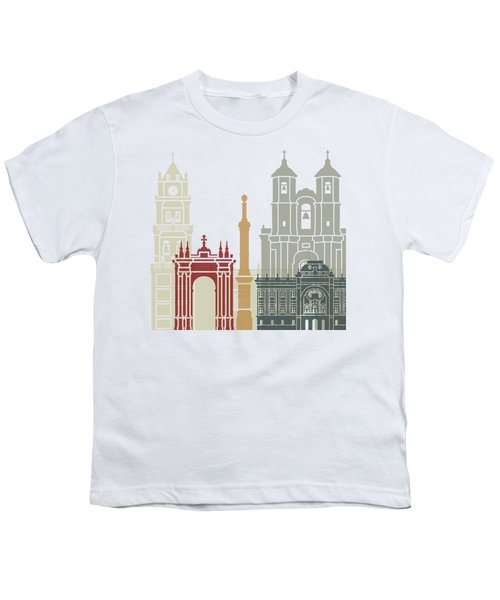 Sucre Skyline Poster Youth T-Shirt by Pablo Romero