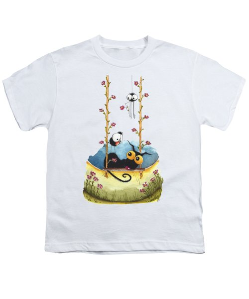 Summer Swing Youth T-Shirt by Lucia Stewart