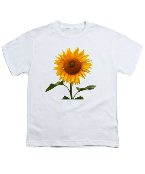 Sunflower On White Youth T-Shirt