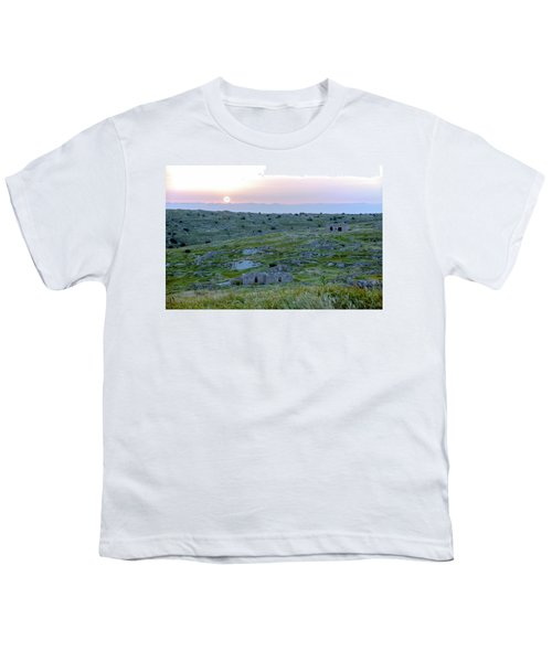 Sunset Over A 2000 Years Old Village Youth T-Shirt by Dubi Roman