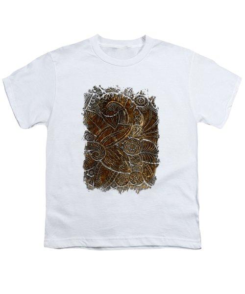 Swan Dance Earthy 3 Dimensional Youth T-Shirt