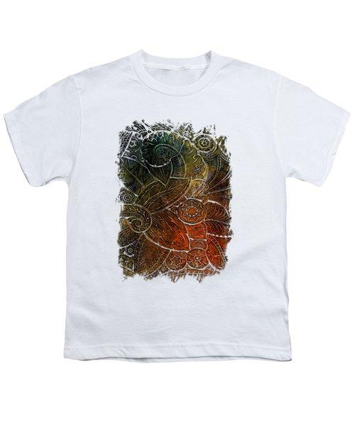 Swan Dance Earthy Rainbow 3 Dimensional Youth T-Shirt