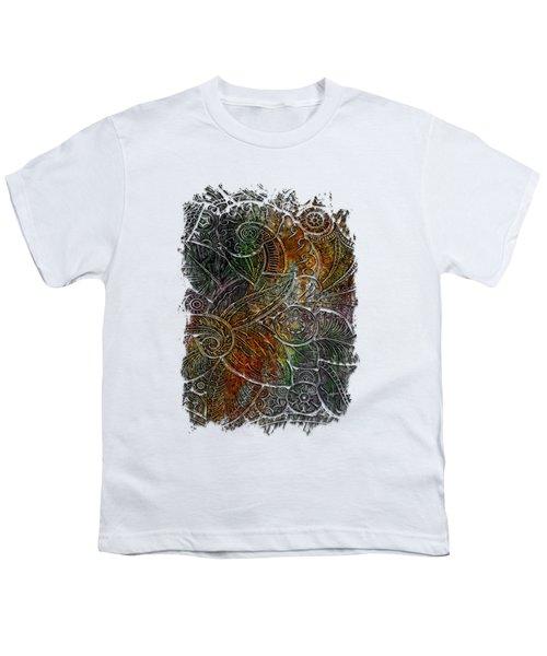 Swan Dance Muted Rainbow 3 Dimensional Youth T-Shirt