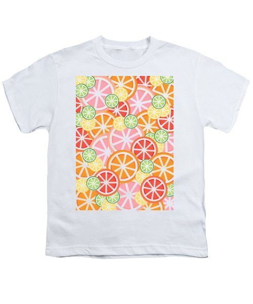 Sweet And Sour Citrus Print Youth T-Shirt