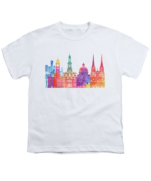 Sydney  Landmarks Watercolor Poster Youth T-Shirt