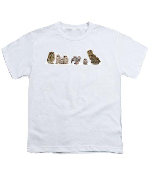 Tawny Owl Family Youth T-Shirt