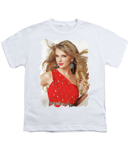 Taylor Swift Youth T-Shirt by Twinkle Mehta