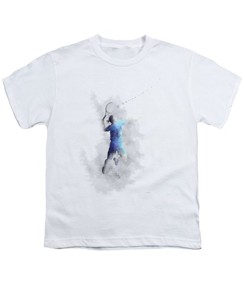 Tennis Player Youth T-Shirt by Marlene Watson
