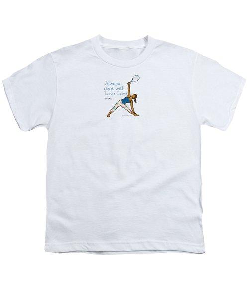 Tennis Pose 2 Youth T-Shirt