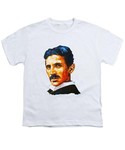 Tesla - Pure Genius Youth T-Shirt by Konni Jensen