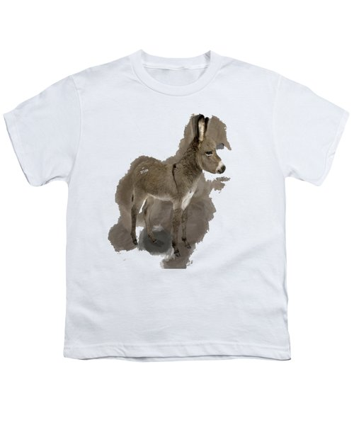 That Cute Donkey Foal In Profile Youth T-Shirt