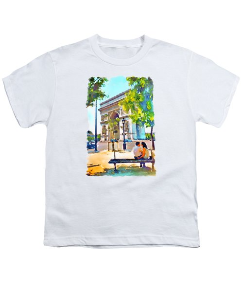 The Arc De Triomphe Paris Youth T-Shirt by Marian Voicu
