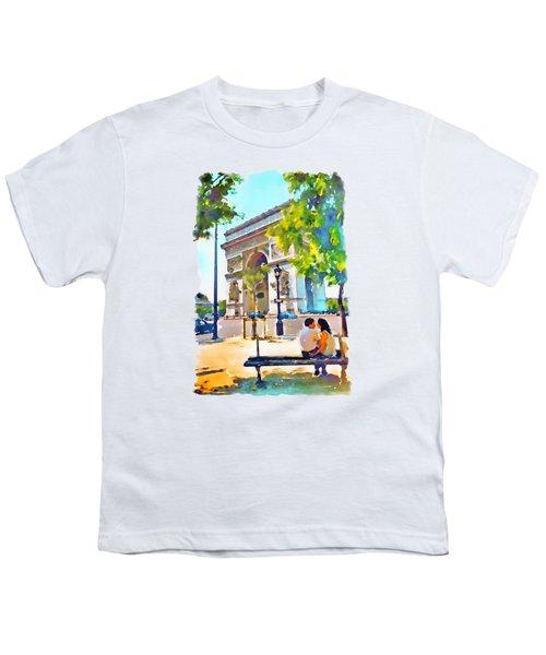 The Arc De Triomphe Paris Youth T-Shirt