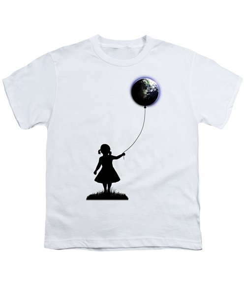 The Girl That Holds The World - White  Youth T-Shirt by Nicklas Gustafsson