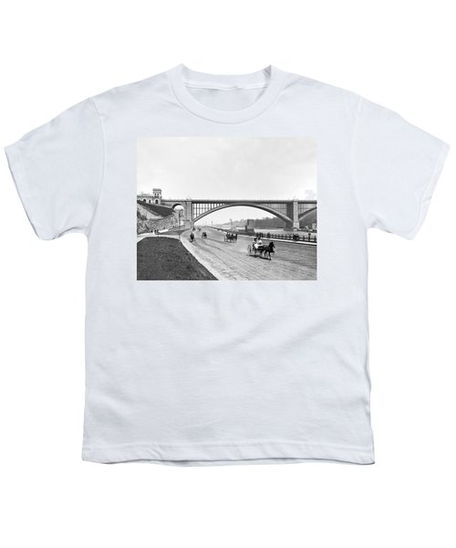 The Harlem River Speedway Youth T-Shirt by William Henry jackson