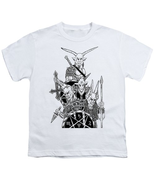 The Infernal Army White Version Youth T-Shirt by Alaric Barca
