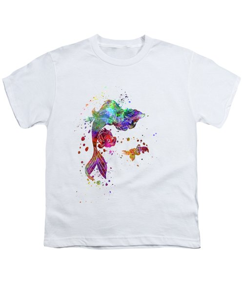 The Little Mermaid Watercolor Art Youth T-Shirt
