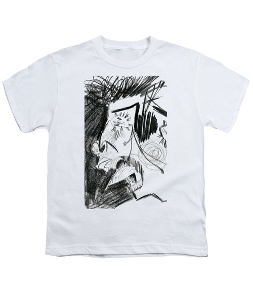 The Scream - Picasso Study Youth T-Shirt by Michelle Calkins