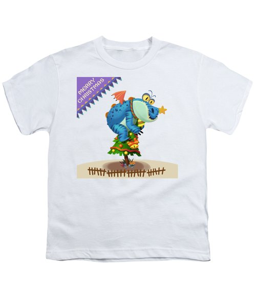 The Sloth Dragon Monster Comes To Wish You Merry Christmas Youth T-Shirt by Next Mars
