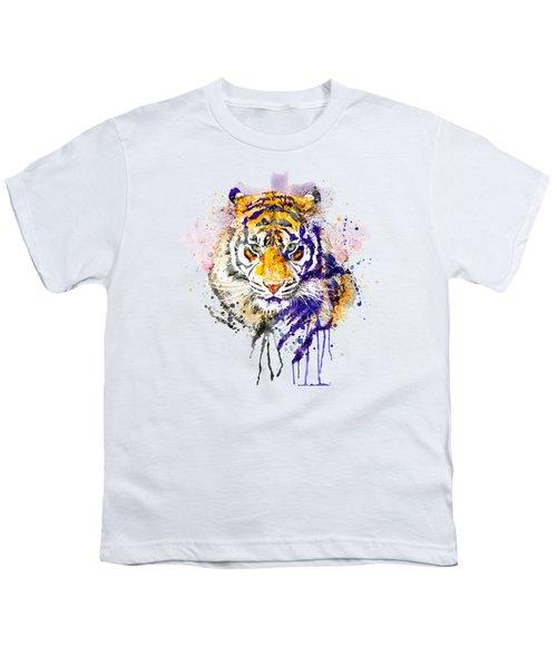 Tiger Head Portrait Youth T-Shirt
